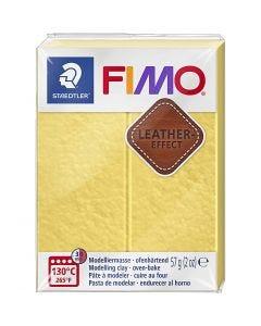 FIMO® Leder-Effekt, Safrangelb (109), 57 g/ 1 Pck.