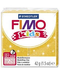 FIMO® Kids Clay, Glitter, Gold, 42 g/ 1 Pck.