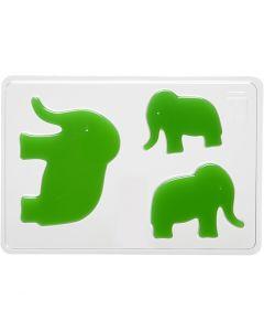 Giessform, Elefant, H: 6+8+10 cm, Größe 14,9x22 cm, 1 Stck.