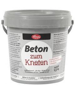 Beton-Modelliermasse, Grau, 1500 g/ 1 Pck.