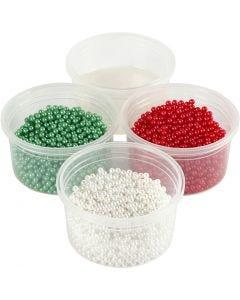 Pearl Clay® , Grün, Rot, Weiß, 1 Set