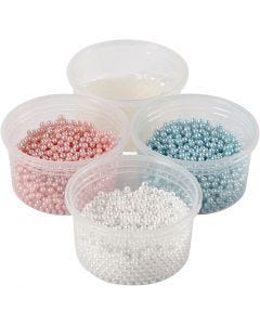 Pearl Clay® , Hellblau, Rosa, Naturweiß, 1 Set, 3x25+38 g