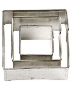 Ausstechformen , quadratisch, Größe 20+30+40 mm, 3 Stck./ 1 Pck.