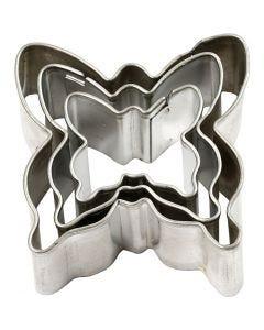 Ausstechformen , Schmetterling, Größe 40x40 mm, 3 Stck./ 1 Pck.