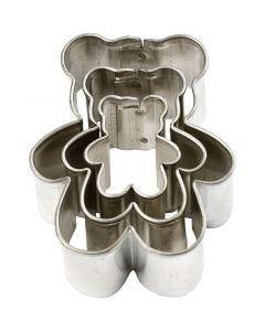 Ausstechformen , Teddybär, Größe 35x40 mm, 3 Stck./ 1 Pck.
