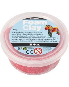 Foam Clay® , Metallisch , Rot, 35 g/ 1 Dose