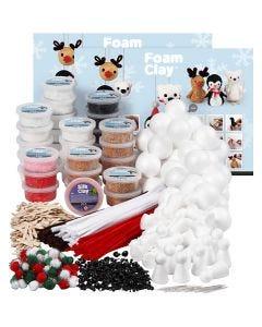 Foam Clay Bastelset, Sortierte Farben, 1 Set