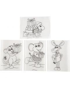 Plastik-Schrumpffolien mit Motiv, 10,5x14,5 cm, Matt transparent, 36 Bl./ 1 Pck.