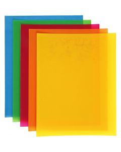 Plastik-Schrumpffolienplatten, 10 Bl./ 1 Pck.