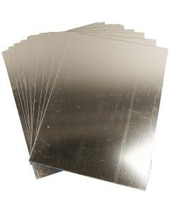 Spiegelfolie aus Plastik, 29,5x21 cm, Stärke: 1,1 mm, 10 Bl./ 1 Pck.