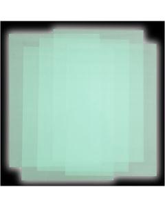 Plastik-Schrumpffolienplatten, 5 Bl./ 1 Pck.