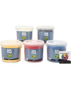 Silk Clay®, Primärfarben, 5x650 g/ 1 Pck.