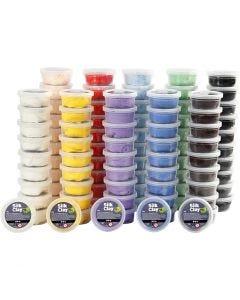 Silk Clay®, Sortierte Farben, 10x10 Dose/ 1 Pck.