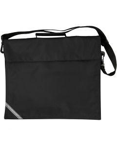 Schultasche, Größe 36x31 cm, Schwarz, 1 Stck.