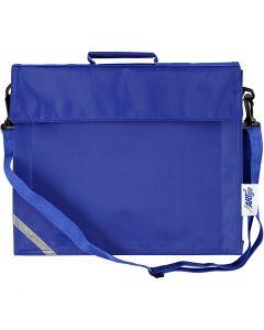 Schultasche, Größe 36x31 cm, Blau, 1 Stck.