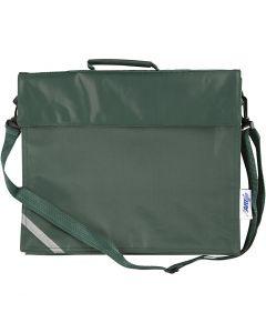 Schultasche, Größe 36x31 cm, Grün, 1 Stck.