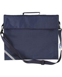Schultasche, Größe 36x31 cm, Dunkelblau, 1 Stck.