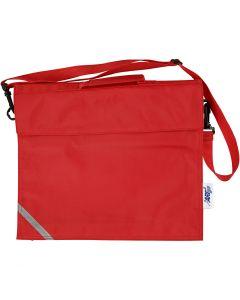 Schultasche, Größe 36x31 cm, Rot, 1 Stck.
