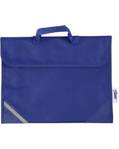 Schultasche, Größe 36x29 cm, Blau, 1 Stck.