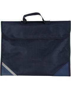 Schultasche, Größe 36x29 cm, Dunkelblau, 1 Stck.