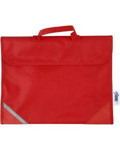 Schultasche, Größe 36x29 cm, Rot, 1 Stck.