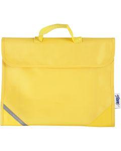 Schultasche, Größe 36x29 cm, Gelb, 1 Stck.