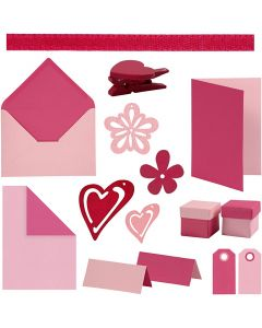 Happy Moments - Set zur Anfertigung von Karten, Sortierte Farben, 160 Teile/ 1 Pck.