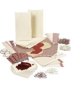 "Vivi Gade Materialset ""Viel Glück"", Gold, Rot, Weiß, 1 Set"