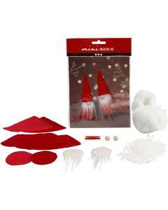 Mini-Kreativset, Weihnachtswichtel, H: 12 cm, 1 Set