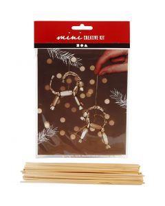 Mini-Kreativset, Traditionelle Weihnachtsziege aus Stroh, H: 7 cm, 1 Set