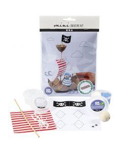 Mini-Kreativ-Set, Eierkarton-Piratenschiff, 1 Set