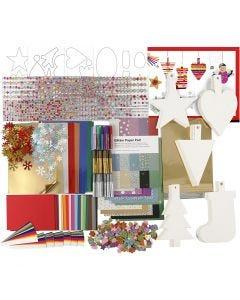 Bastelset für die Weihnachtsdeko, Sortierte Farben, 1 Set