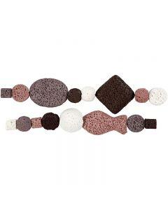 Perlen-Sortiment in Luxus-Ausführung, D: 6-37 mm, Lochgröße 2 mm, Altrosa (25), 1 Set