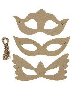 Masken, H: 5+8 cm, B: 18 cm, 3x10 Stck./ 1 Pck.