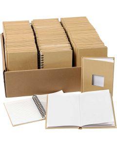 Notizbücher, A6, Größe 10,5x15 cm, 3x32 Stck./ 1 Pck.