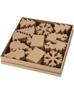 Weihnachts-Figuren, H: 10-14 cm, 6x6 Stck./ 1 Pck.