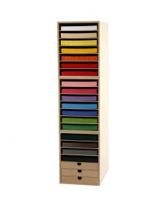 Container und Karton in Blättern als Liefereinheit, H: 100 cm, A4, 210x297 mm, 180 g, Sortierte Farben, 1 Set