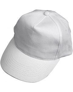 Kappe, Größe 49,5-56 cm, Weiß, 1 Stck.