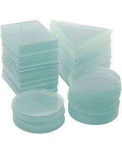 Glasplatten, Stärke: 3 mm, 3x30 Stck./ 1 Box