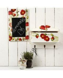Eine Tafel mit Decoupage