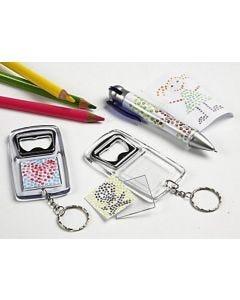 Schlüsselanhänger mit Flaschenöffner/ Kugelschreiber mit Hohlraum