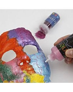 Maske, gestaltet mit Gipsbandagen