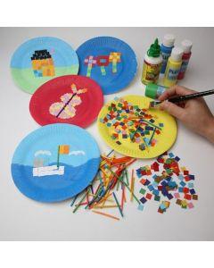 Mosaikteile aus Karton