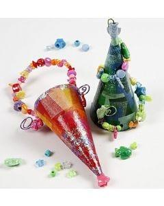 Spitztüten mit Perlen