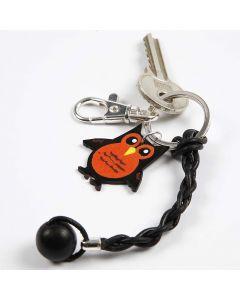 Schlüsselring mit Lederanhänger
