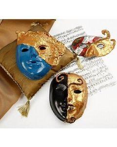 Rokoko-Masken mit Art Metal Gold