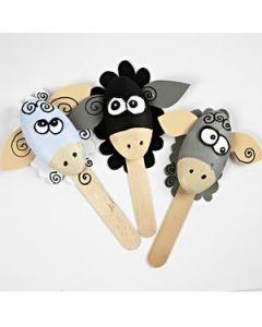 Lustige Styropor-Schafe