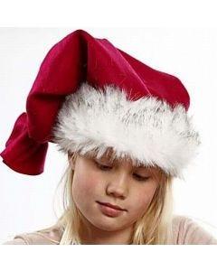 Weihnachtsmannmütze mit Kunstpelzkante