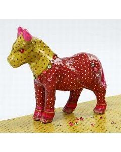 Pappmaché-Pferd mit Decoupage