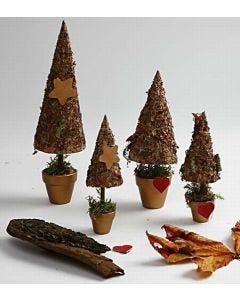 Rustikale Weihnachtsbäume